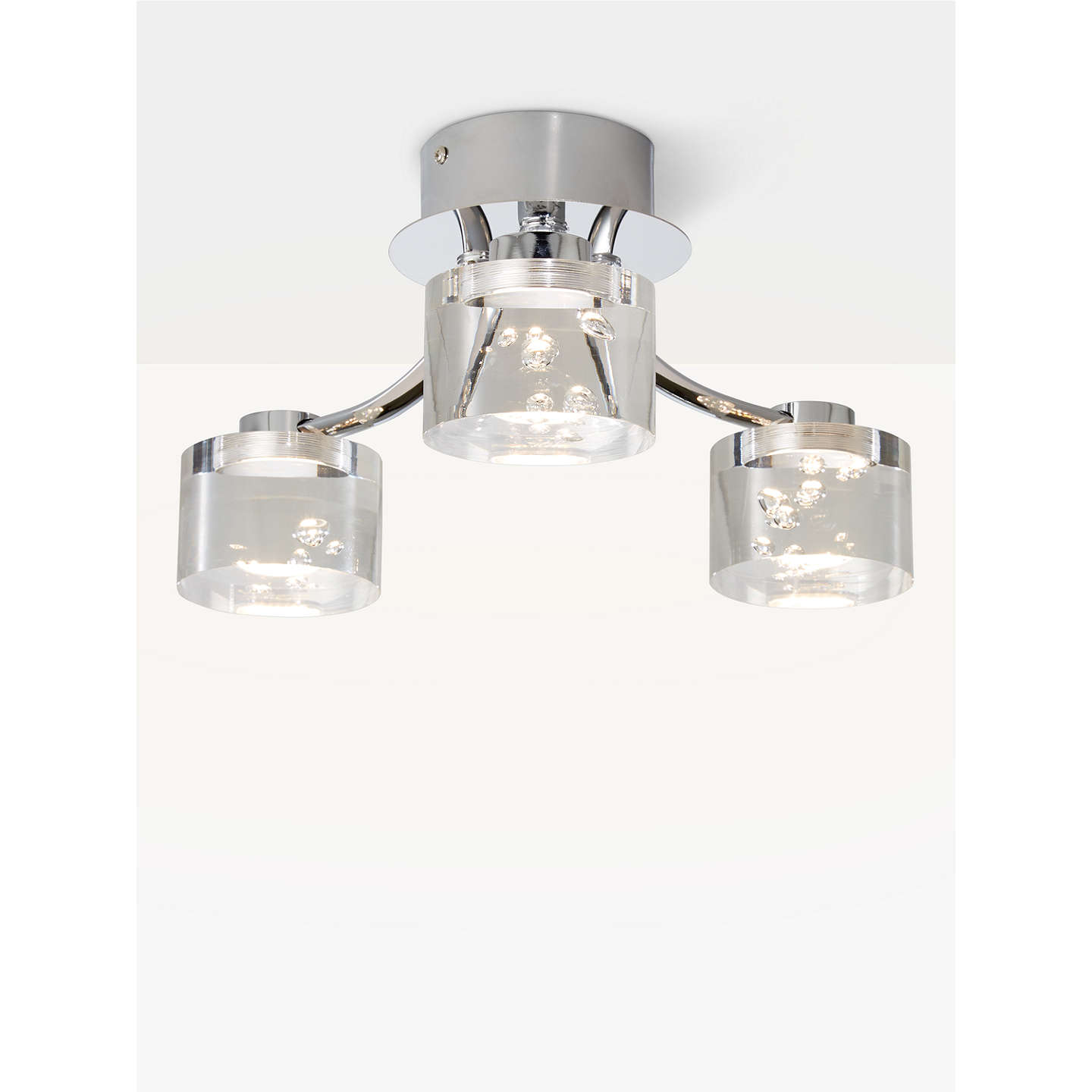 John lewis lawrence led bubble flush ceiling light 3 light clear buyjohn lewis lawrence led bubble flush ceiling light 3 light clearsilver online aloadofball Image collections