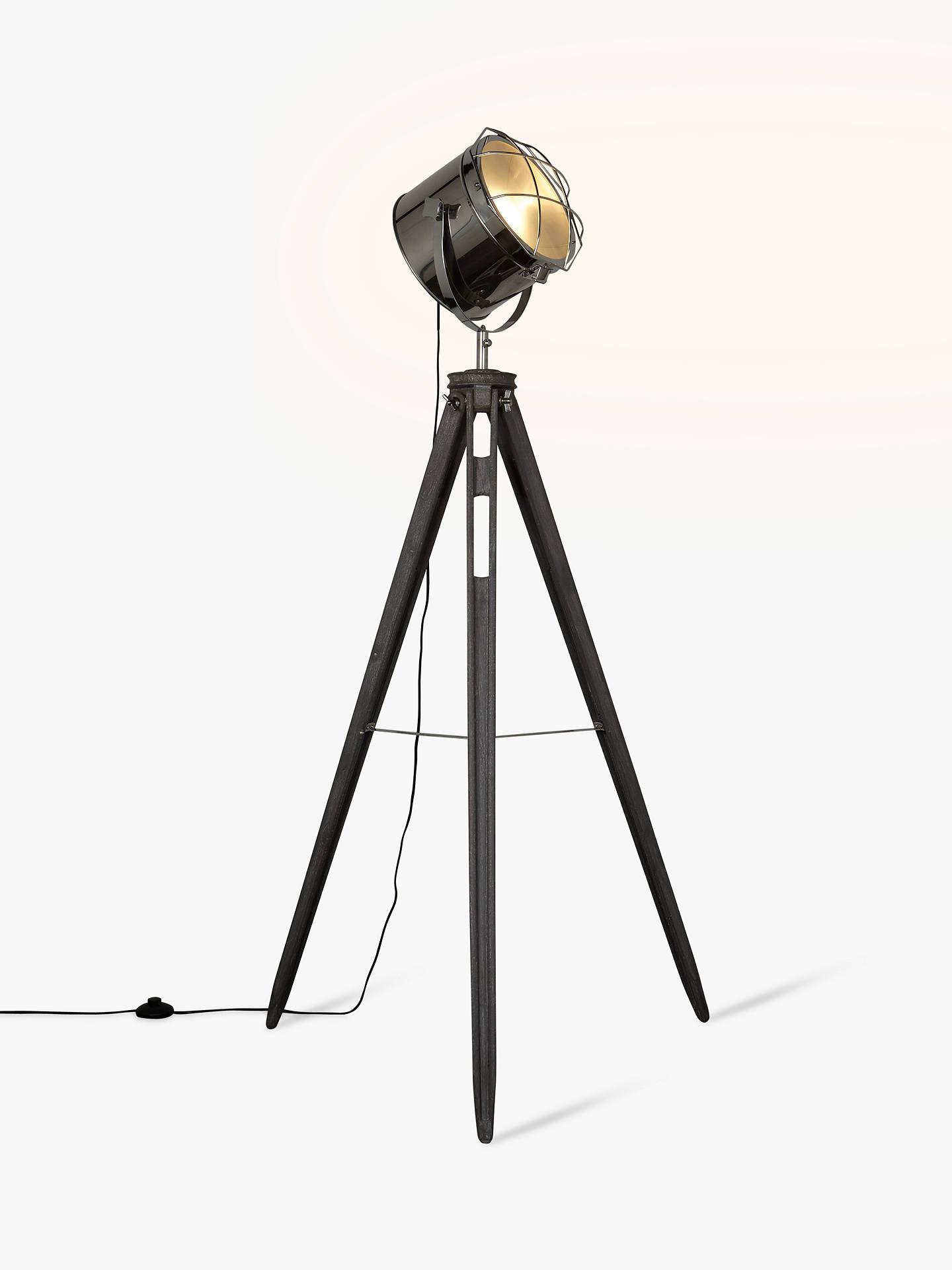 John Lewis Amp Partners Jules Wood Marine Head Floor Lamp At