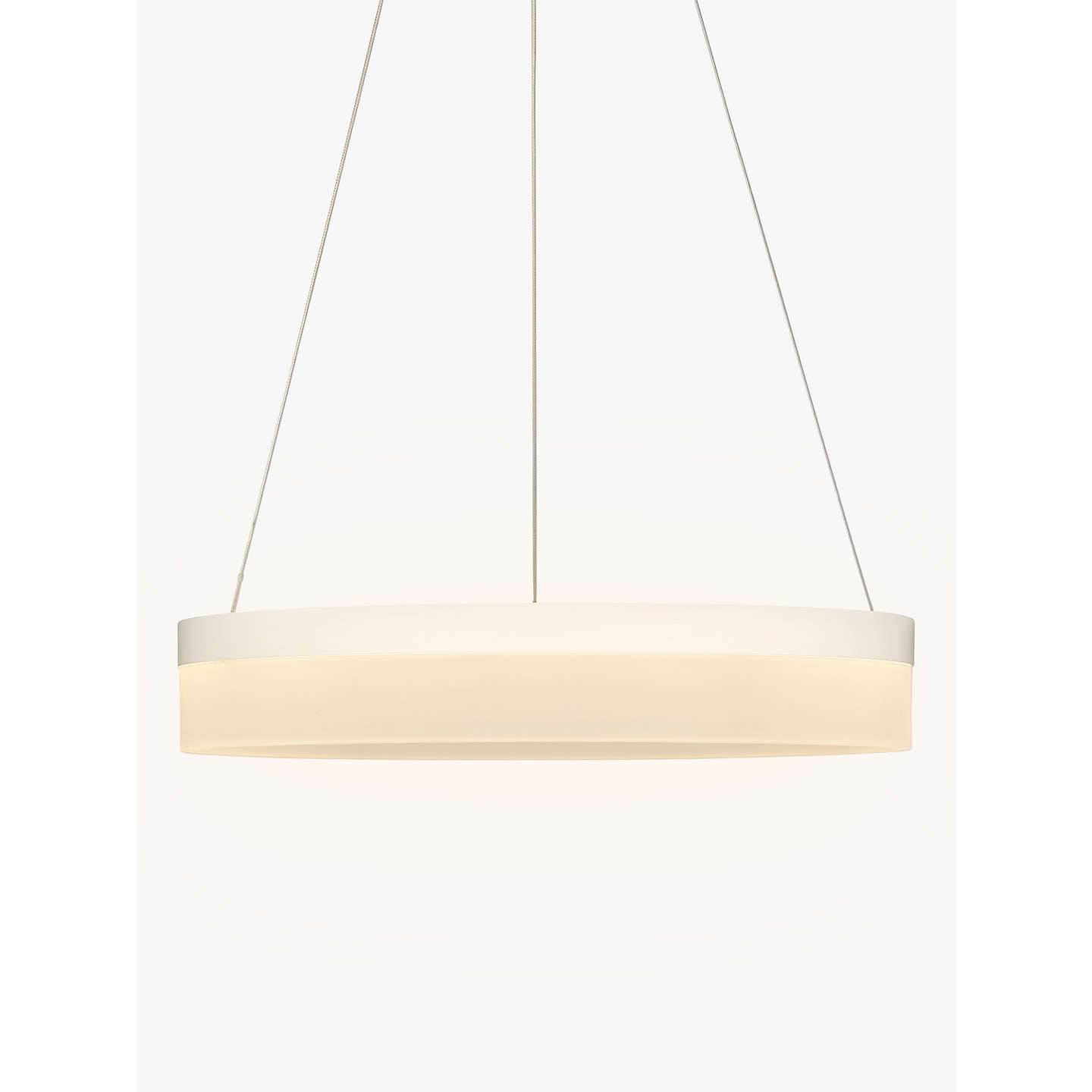 John Lewis Magnus Led Hoop Pendant Ceiling Light White At