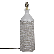 Buy John Lewis Lena Scribble Stoneware Lamp Base, Natural Online at johnlewis.com