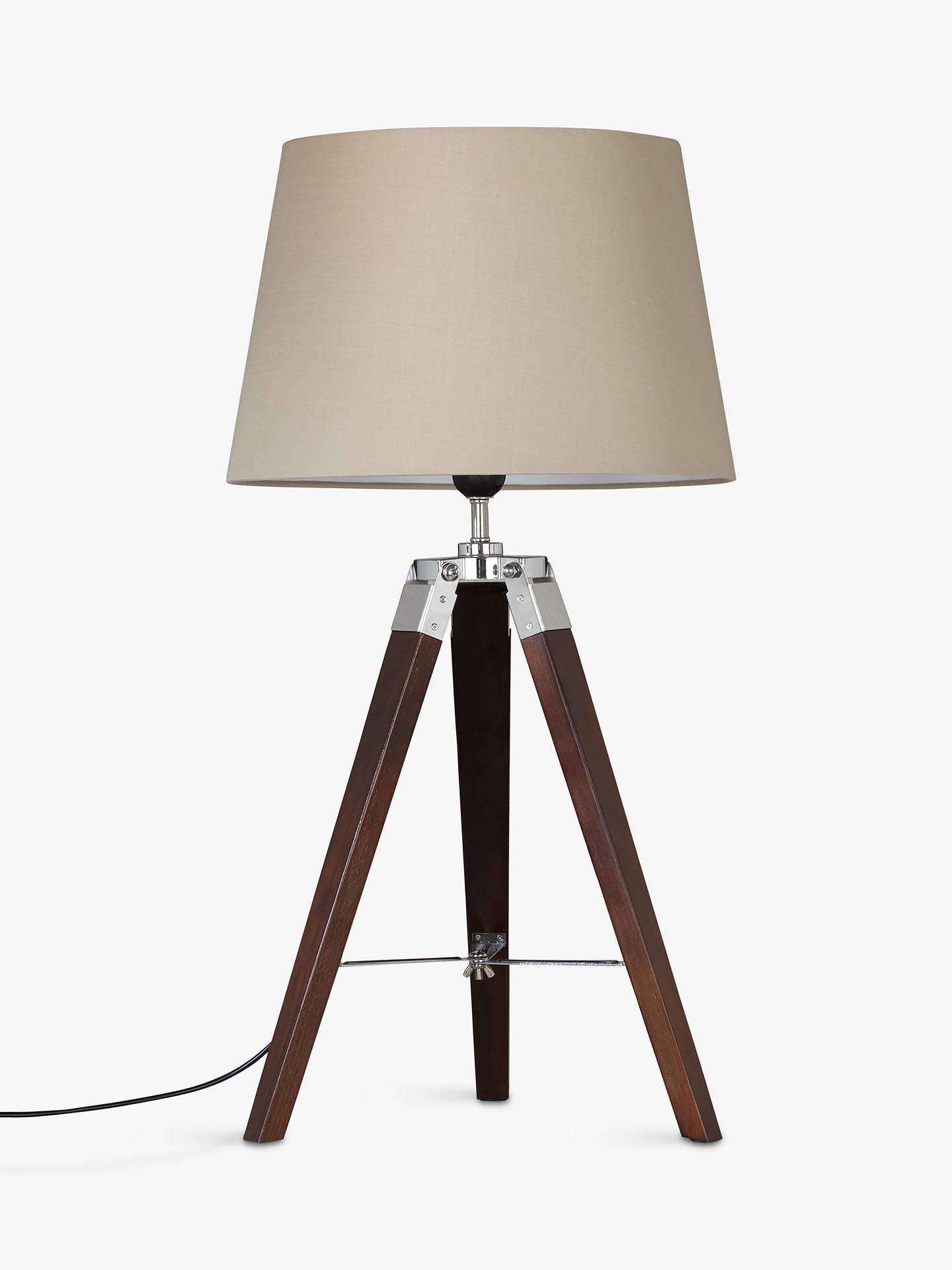 ... BuyJohn Lewis Jacques Dark Wood Table Lamp, Brown Online At  Johnlewis.com ...
