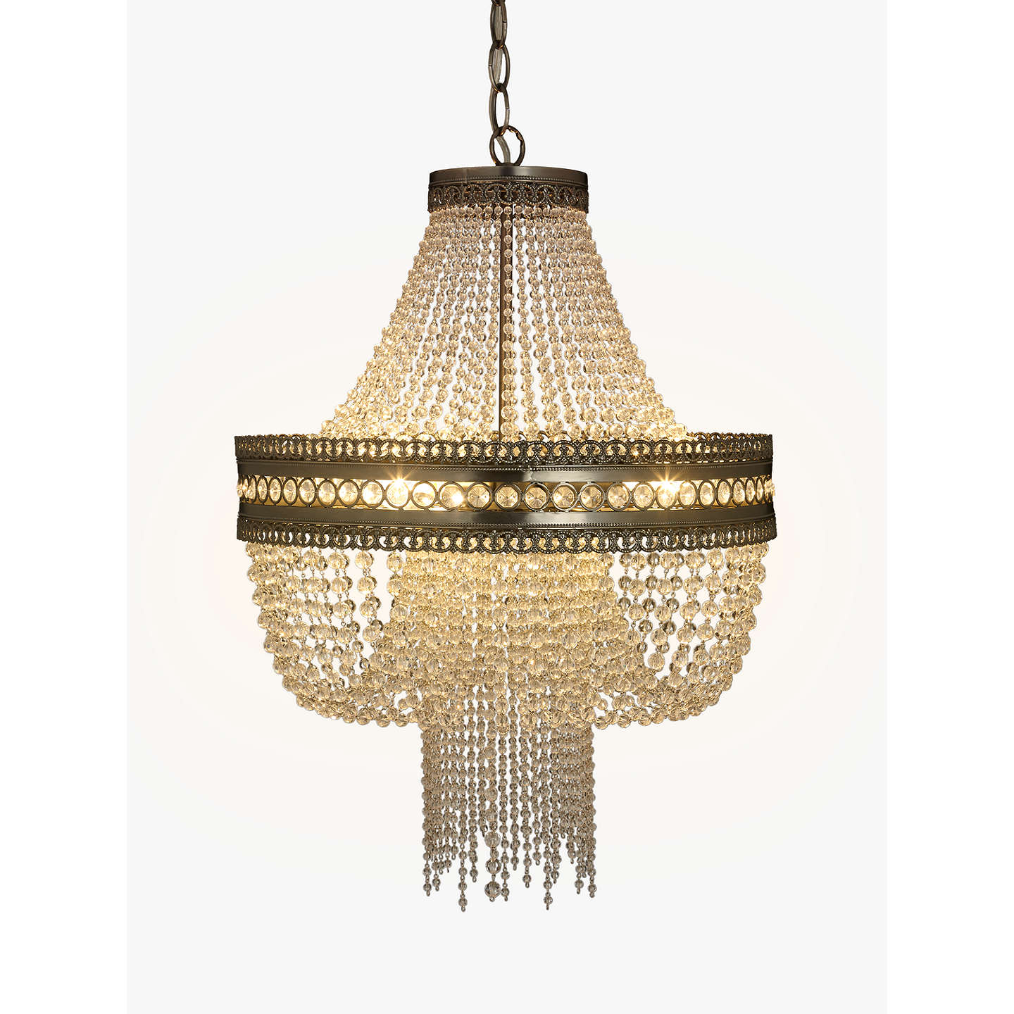 John Lewis Lucia Crystal Chandelier Crystal Clear At John