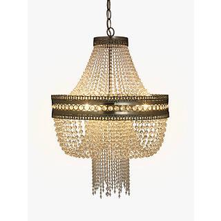 Chandelier lighting ceiling lighting john lewis john lewis lucia crystal chandelier crystalclear aloadofball Choice Image