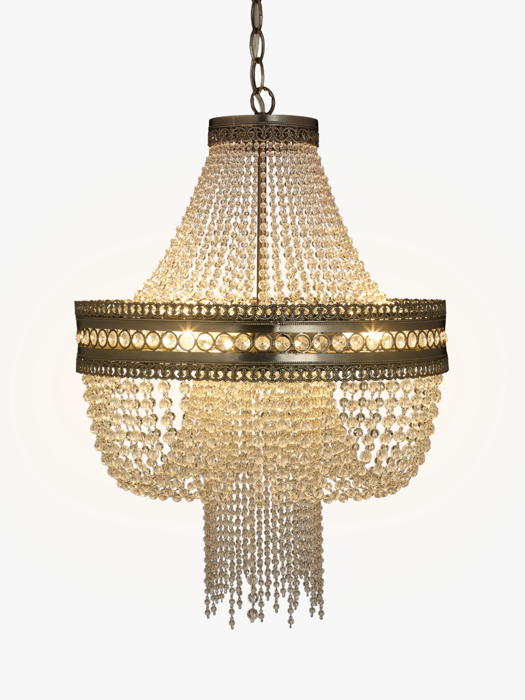 Image of: John Lewis Partners Lucia Crystal Chandelier Crystal Clear At John Lewis Partners