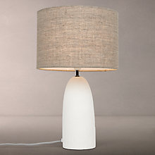 Buy John Lewis Meryl Large Concrete Table Lamp, White Online at johnlewis.com