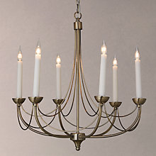 Buy John Lewis Mirabel Chandelier LED Ceiling Light, 6 Light, Brass Online at johnlewis.com