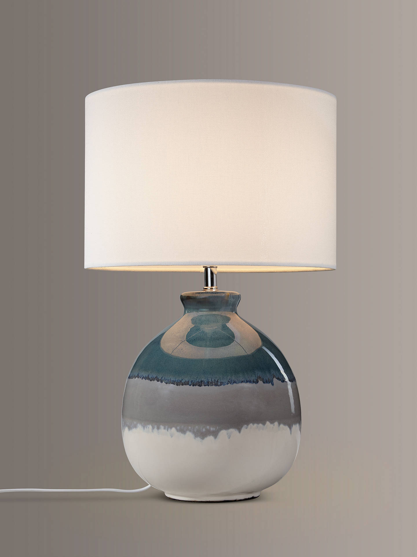 Buy John Lewis & Partners Martha Ceramic Table Lamp, Blue Online at johnlewis.com