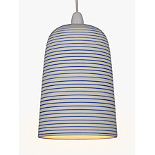 Buy John Lewis Portland Striped Ceramic Easy-to-Fit Pendant Shade, White/Blue Online at johnlewis.com