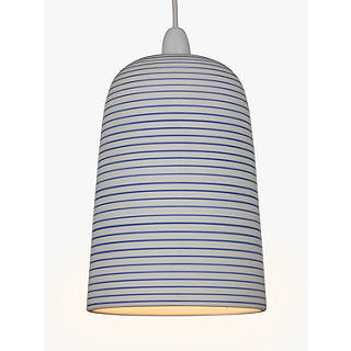Ceiling only ceiling lamp shades john lewis john lewis portland striped ceramic easy to fit pendant shade whiteblue aloadofball Gallery