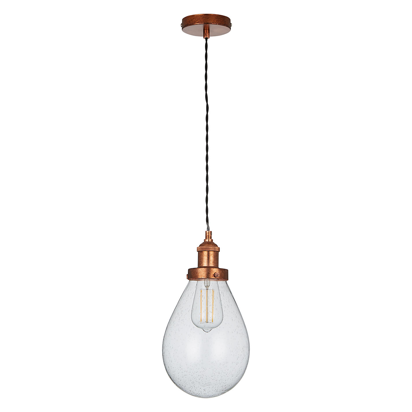 Buy john lewis radley glass bistro pendant ceiling light clear buy john lewis radley glass bistro pendant ceiling light clearcopper online at johnlewis aloadofball Gallery