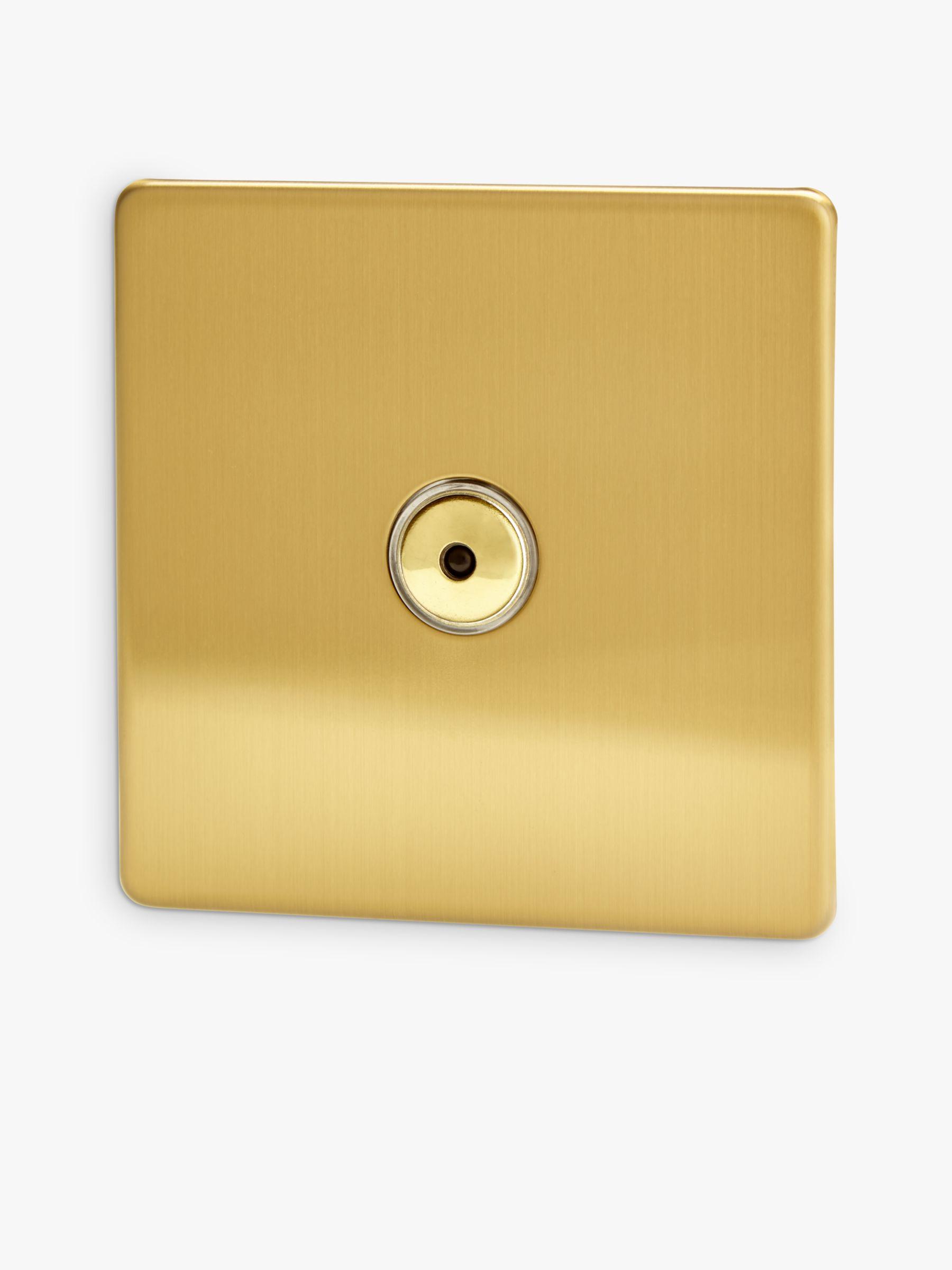 Varilight Varilight 1 Gang V-pro LED Remote Control Dimmer Switch, Brushed Brass