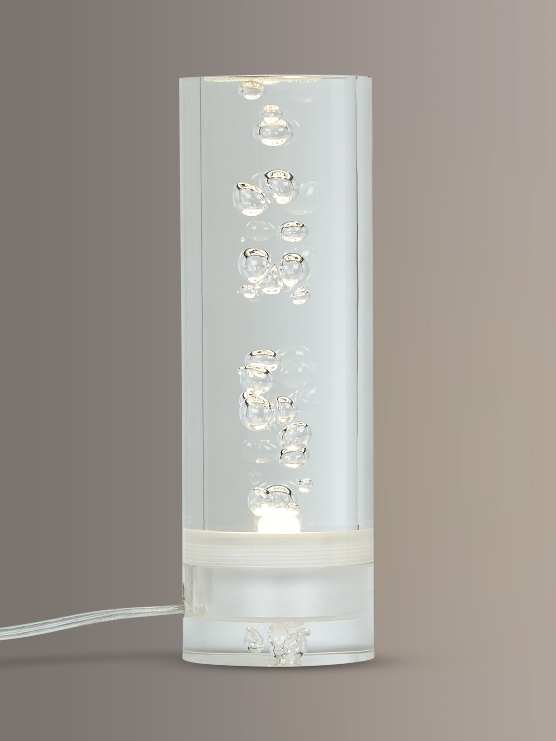 Lawrence LED Bubble Floor Lamp, Clear