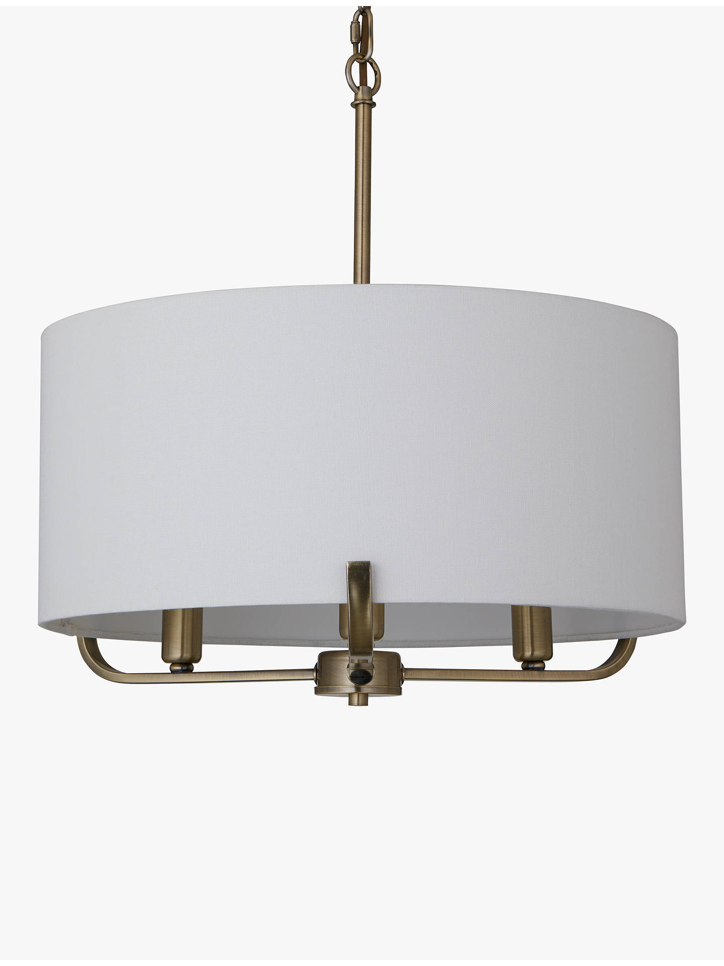BuyJohn Lewis & Partners Jamieson Pendant Ceiling Light, Satin Brass Online at johnlewis.com