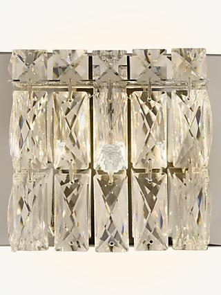6efbf2439f43 John Lewis & Partners Kelsey Single Cube Wall Light, Crystal Clear