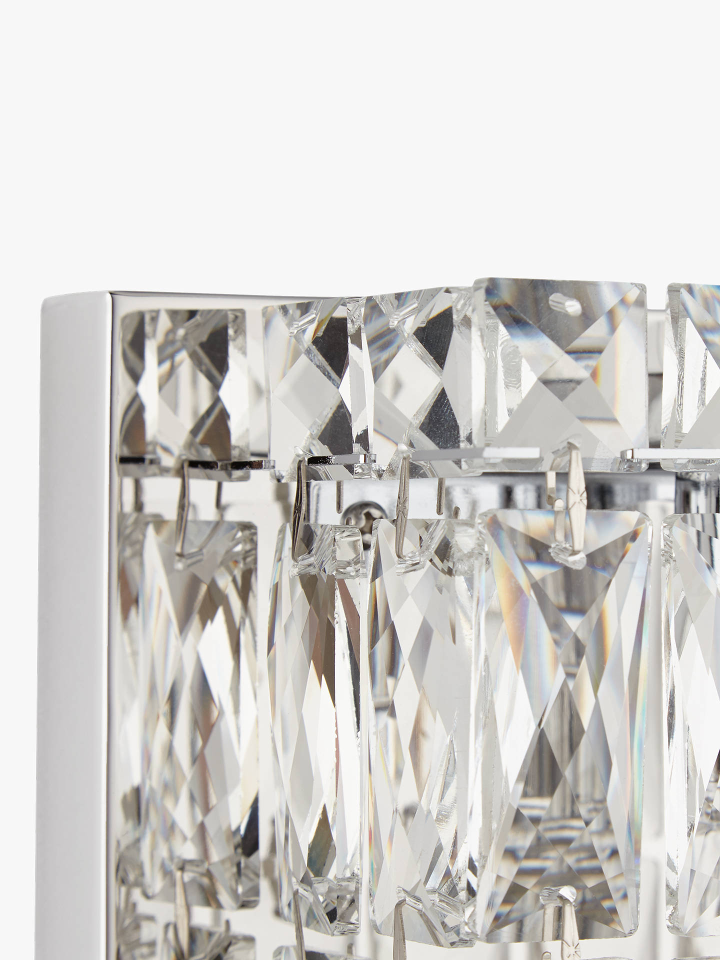 Buy John Lewis & Partners Kelsey Single Cube Wall Light, Crystal Clear Online at johnlewis.com