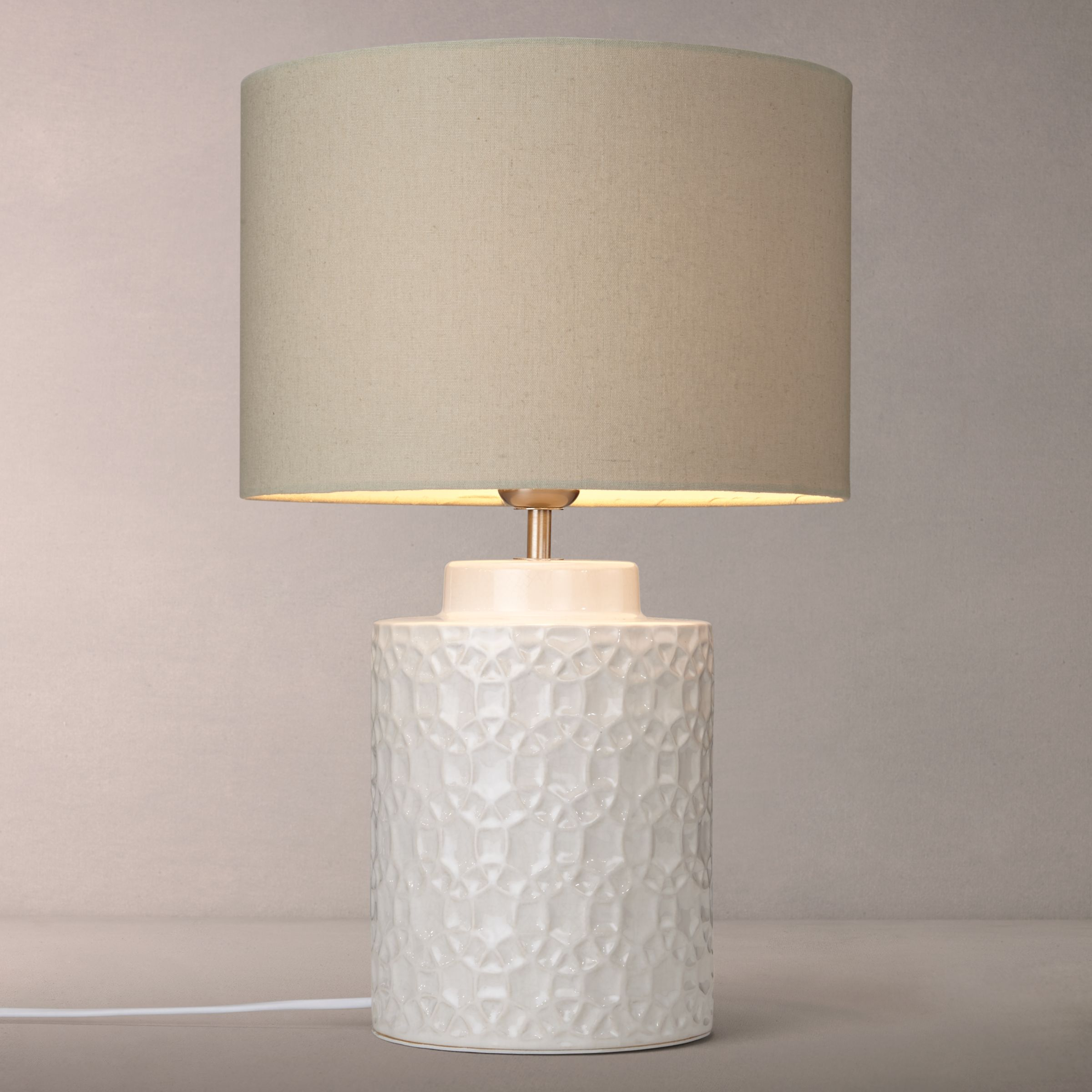 john lewis lulworth ceramic table lamps ivory gay times. Black Bedroom Furniture Sets. Home Design Ideas