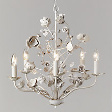 Buy John Lewis Poppy Chandelier, 5 Light, Grey Online at johnlewis.com