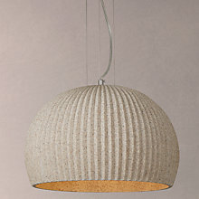 Buy John Lewis Oscar Stone Ribbed Pendant Ceiling Light, Natural Online at johnlewis.com