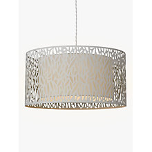 Buy John Lewis Meadow Fretwork Shade Ceiling Light, Grey/White Online at johnlewis.com