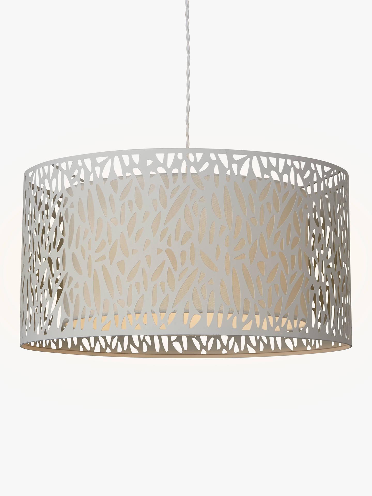 John Lewis Partners Meadow Fretwork Shade Ceiling Light Grey White