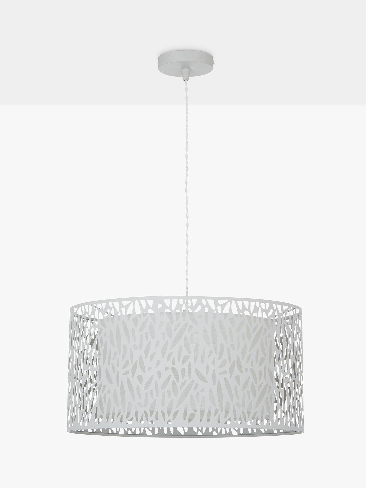 BuyJohn Lewis & Partners Meadow Fretwork Shade Ceiling Light, Grey/White Online at johnlewis.com