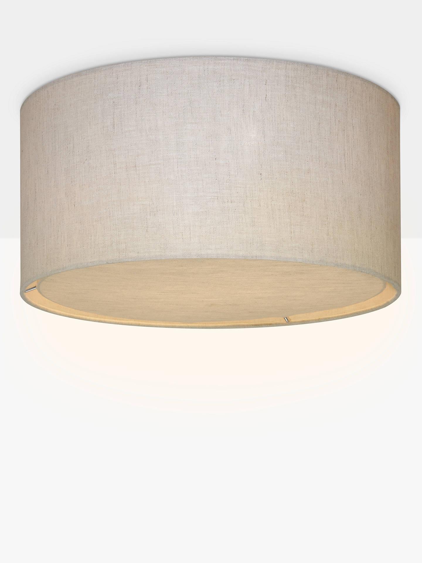 John Lewis Partners Samantha Linen Flush Ceiling Light Natural Dia