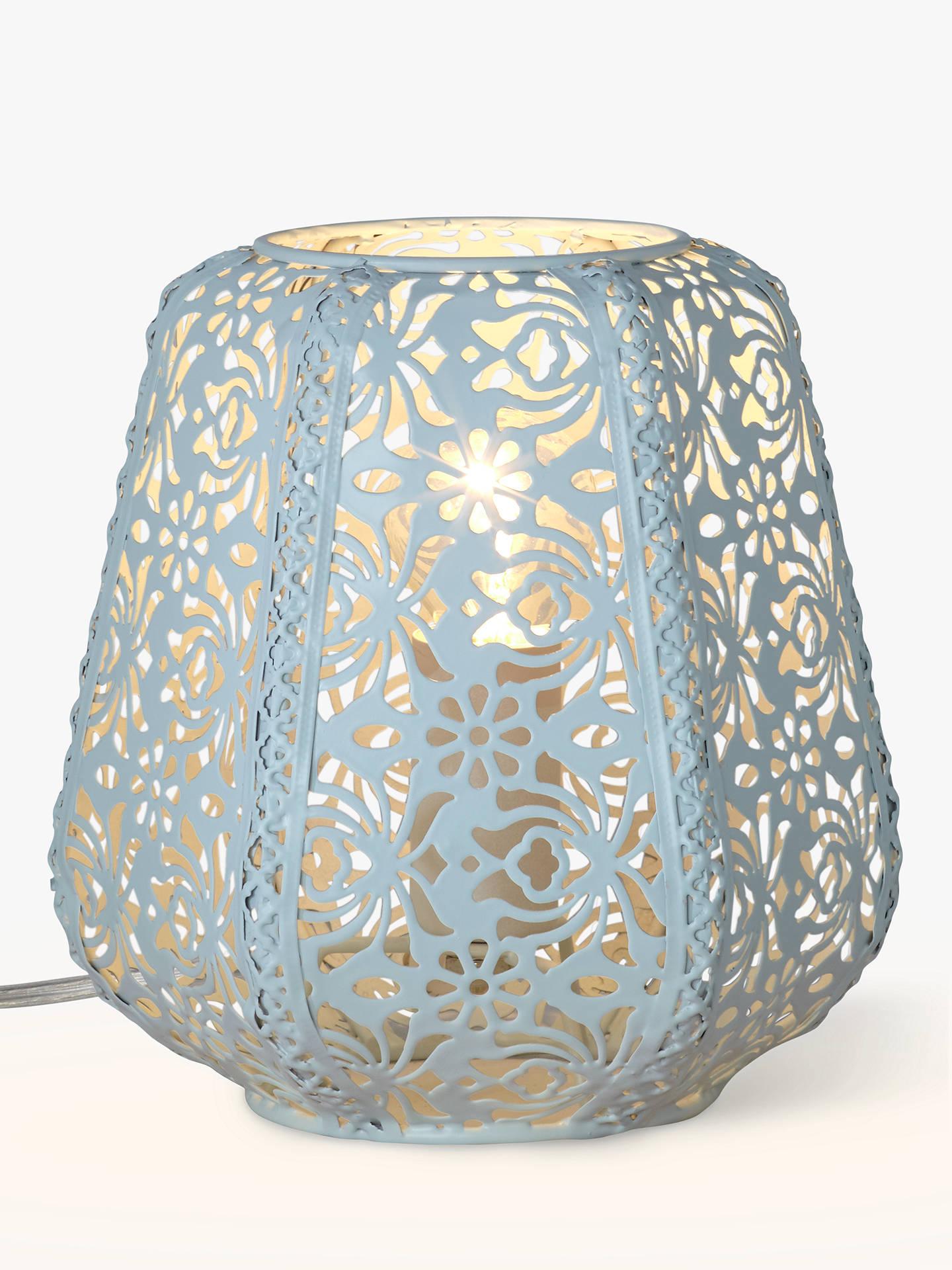 John Lewis Rosanna Metal Fretwork Table Lamp, Duck Egg at John Lewis ...