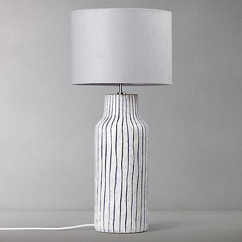Buy John Lewis Shandi Stripe Lamp Base, Blue Online at johnlewis.com