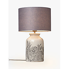 Buy John Lewis Woodcroft Crackle Glaze Table Lamp, Cream Online at johnlewis.com