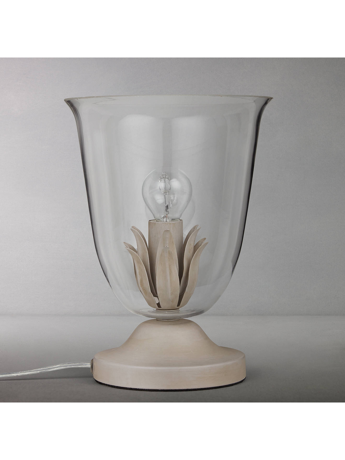 BuyJohn Lewis Clovelly Glass Vessel Table Lamp, Grey Online at johnlewis.com