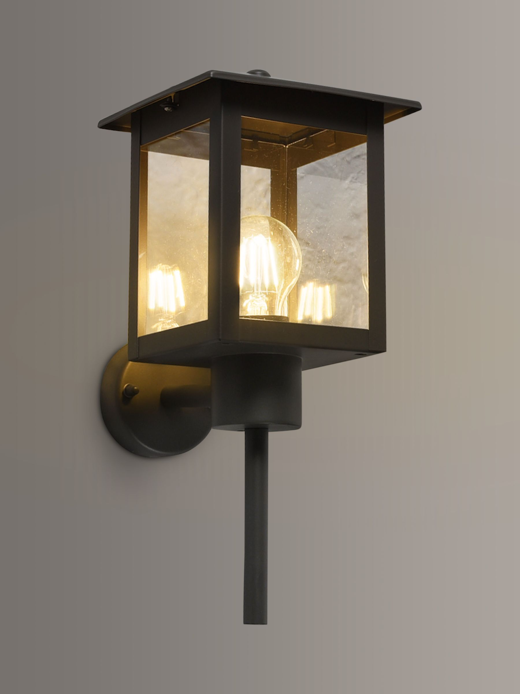 John Lewis Partners Stowe Coach Lantern Outdoor Wall Light Grey At John Lewis Partners