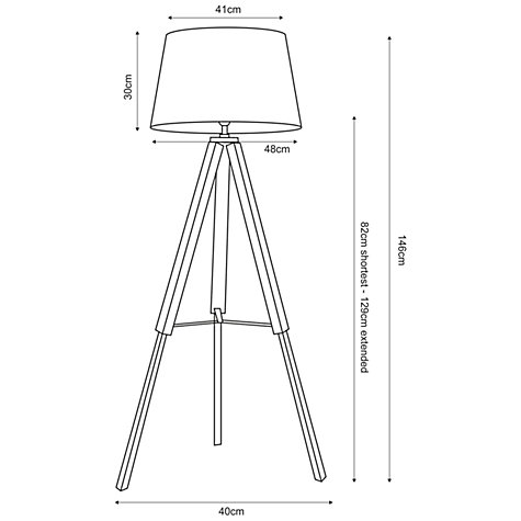 tall lamp drawing. buy john lewis jacques tripod floor lamp online at johnlewis.com tall drawing e