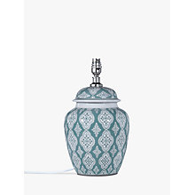 Buy John Lewis Tamsin Ceramic Lamp Base, Green Online at johnlewis.com