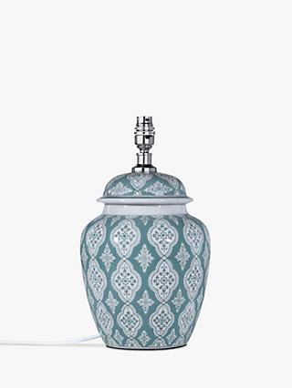 977051d699c9 John Lewis & Partners Tamsin Ceramic Lamp Base, Green, H35cm