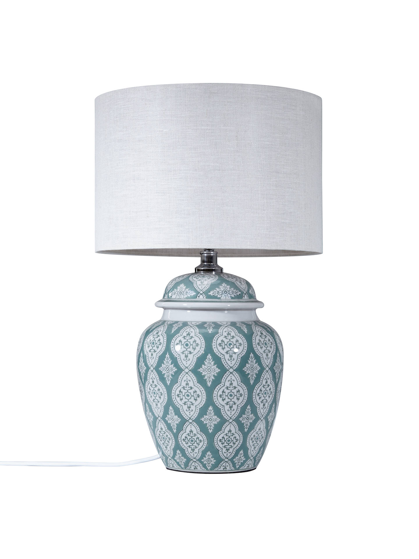 BuyJohn Lewis & Partners Tamsin Ceramic Lamp Base, Green Online at johnlewis.com