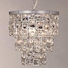 Buy John Lewis Shakira Crystal Ceiling Light, Silver/Clear Online at johnlewis.com