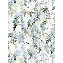 Buy Sanderson Waterperry Wisteria Falls Wallpaper Aqua 216299, Panel B Online at johnlewis.com