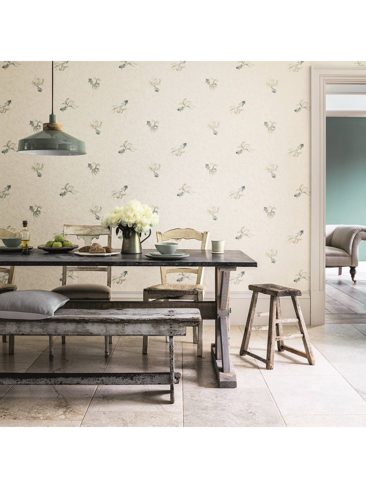Buy Sanderson Waterperry Fantail Wallpaper, Ivory 216285 Online at johnlewis.com