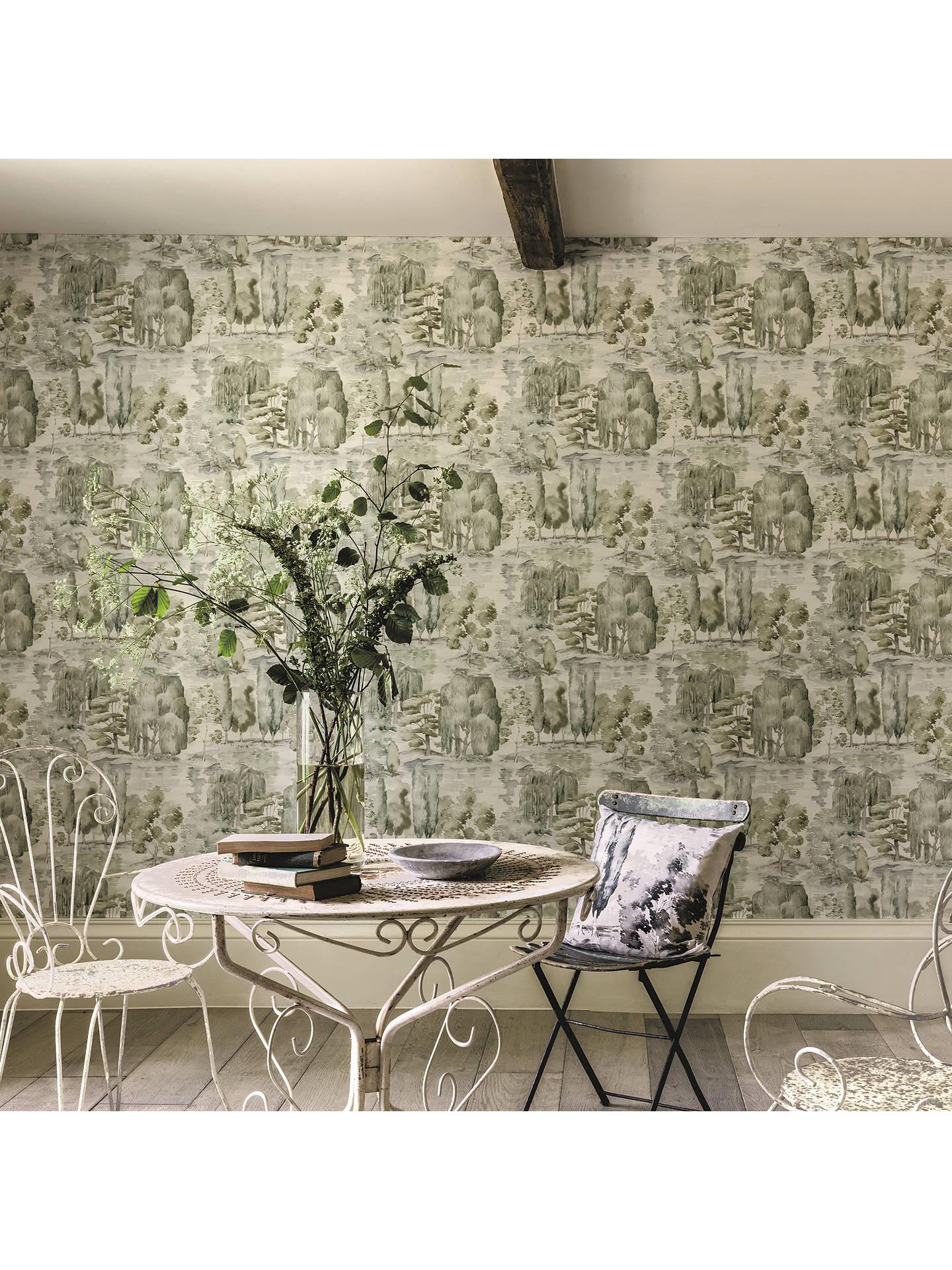 ... Buy Sanderson Waterperry Wallpaper, Willow / Olive DWAP216283 Online at johnlewis.com