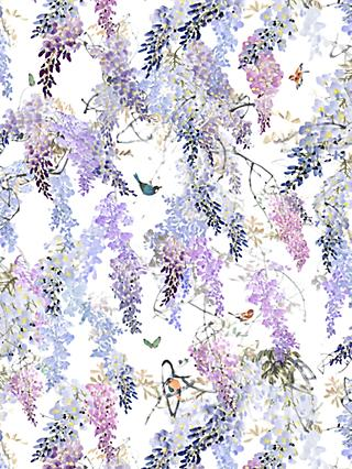 Sanderson Waterperry Wisteria Falls Wallpaper Lilac 216297, Panel B