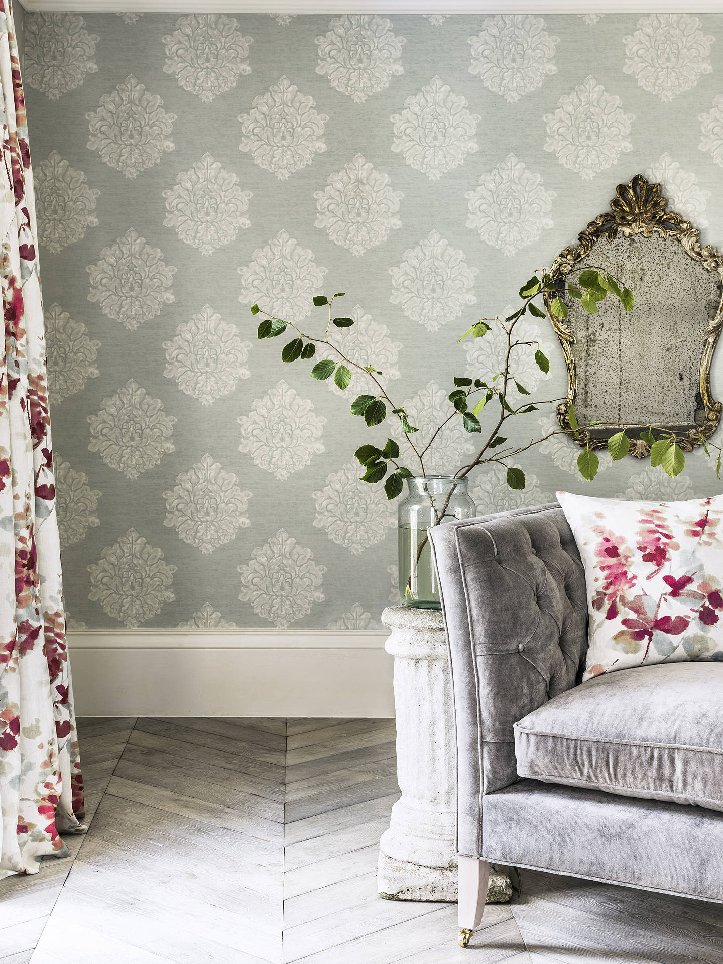 Buy Sanderson Waterperry Laurie Wallpaper, Eggshell 216267 Online at johnlewis.com