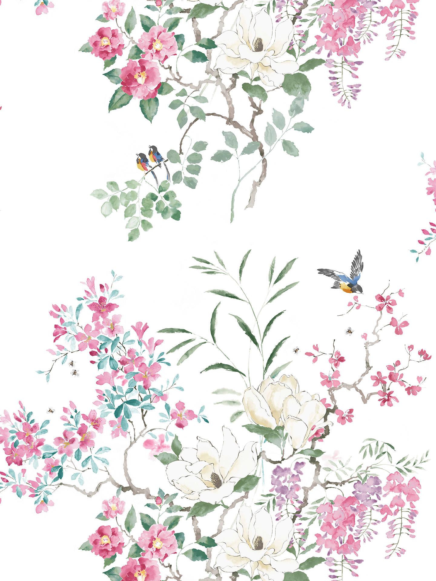 Buy Sanderson Waterperry Magnolia Wallpaper 216306, Panel B Online at johnlewis.com ...