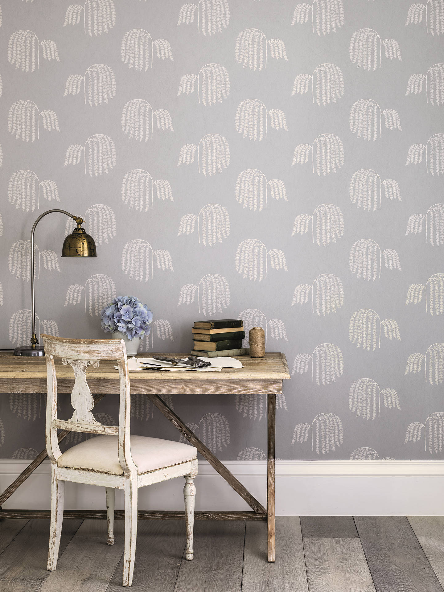 BuySanderson Waterperry Bay Willow Wallpaper, Dove 216274 Online at johnlewis.com