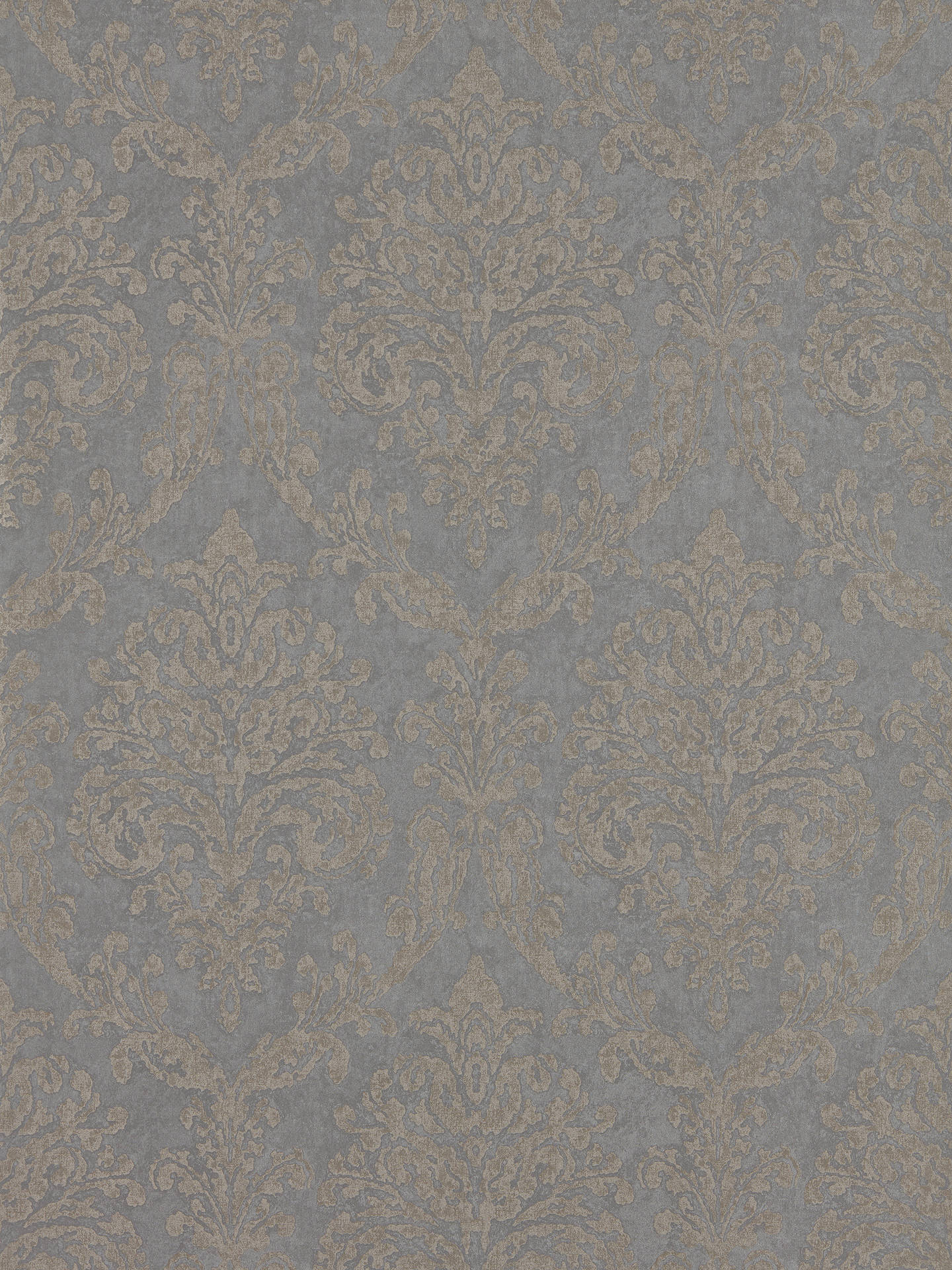 Buy Sanderson Waterperry Riverside Damask Wallpaper, Mole / Copper DWAP216290 Online at johnlewis.com