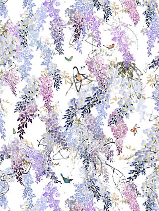 Sanderson Waterperry Wisteria Falls Wallpaper Lilac 216296, Panel A