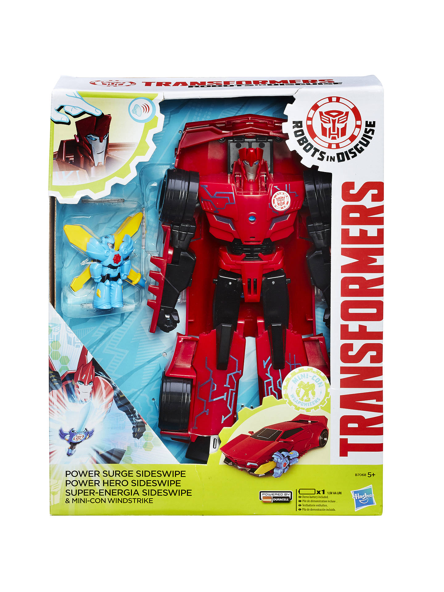 f29fd132ed74b7 BuyTransformers Robots in Disguise Power Surge Sideswipe and Windstrike Toy  Online at johnlewis.com ...