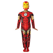 Buy Marvel Avengers Iron Man Deluxe Children's Costume Online at johnlewis.com