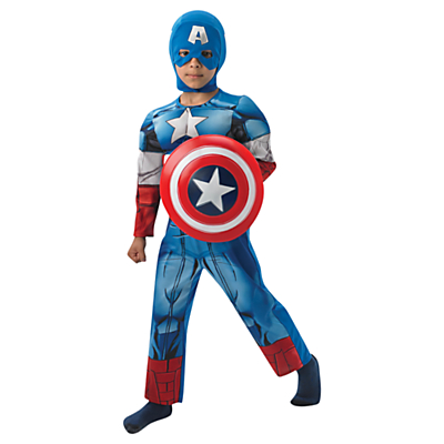 Marvel Avengers Captain America Deluxe Children's Costume, 7-8 years