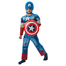 Buy Marvel Avengers Captain America Deluxe Children's Costume, 7-8 years Online at johnlewis.com