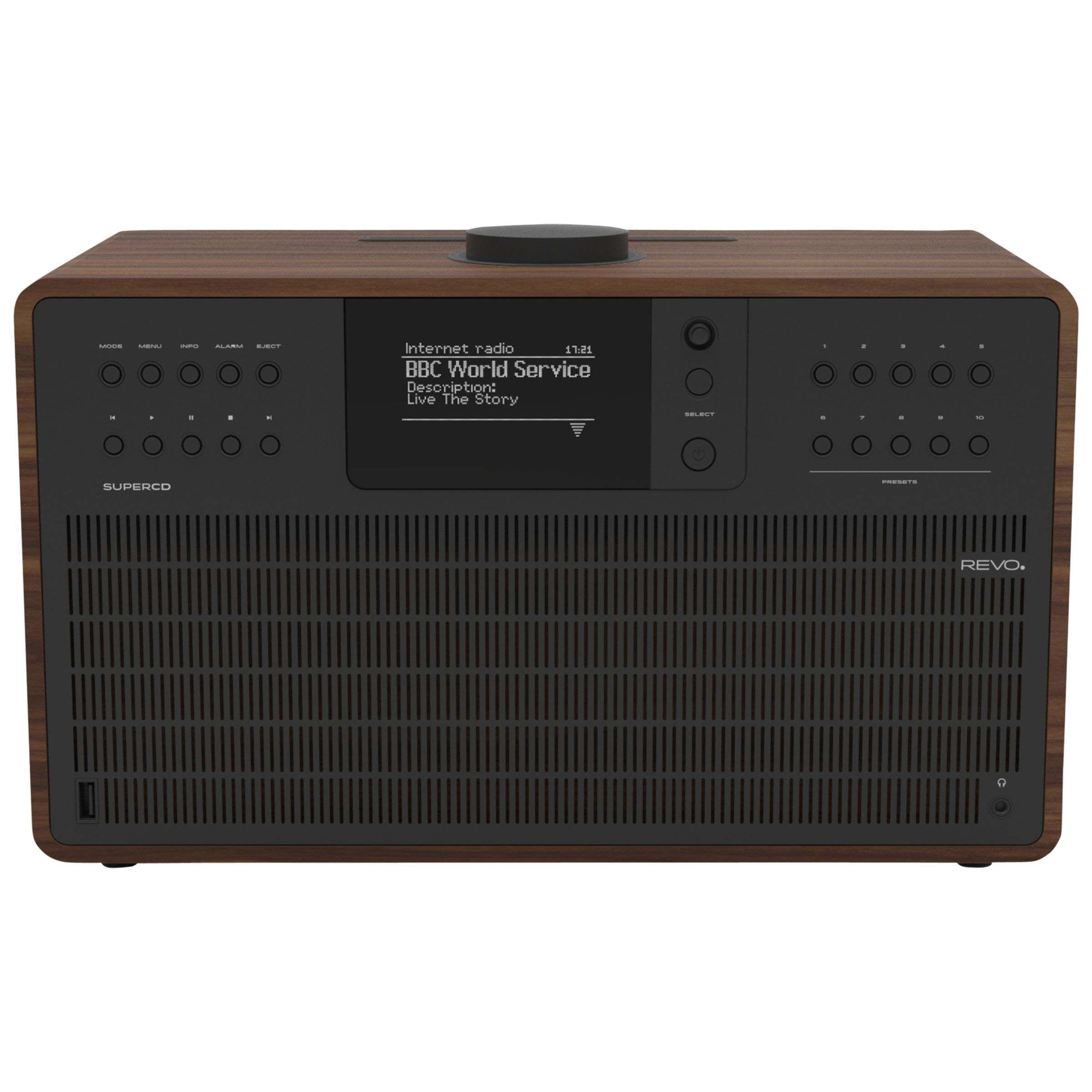 Revo Revo SuperCD DAB+/FM & Internet Radio All-In-One Music System with Wi-Fi, Bluetooth & Spotify Connect